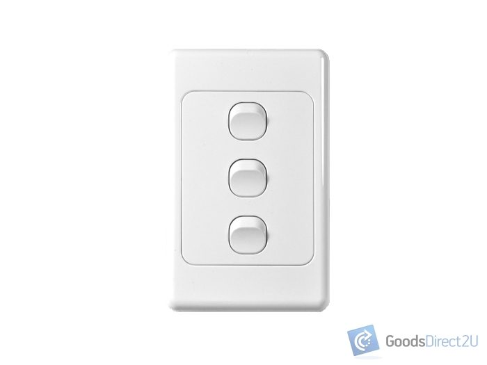 Light Switch 3 Gang Vertical 10a Goodsdirect2u New Zealand